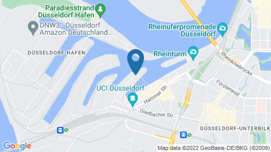 Hyatt Regency Düsseldorf Map