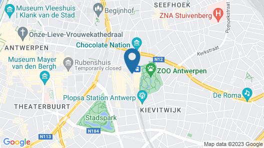 Hampton by Hilton Antwerp Central Station Map