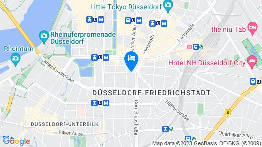 Wyndham Garden Düsseldorf City Centre Königsallee Map