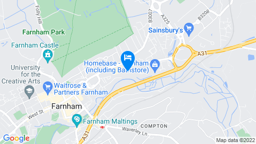Well Located, Welcoming Place in Farnham Map