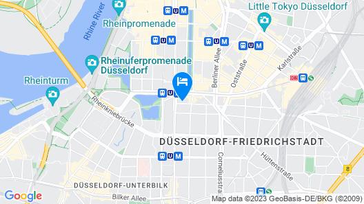 THE FRITZ Düsseldorf Map