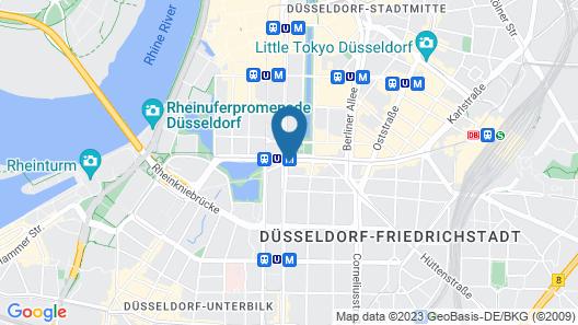 Leonardo Royal Hotel Düsseldorf Königsallee Map