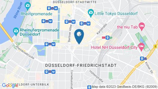Hotel Düsseldorf Mitte Map