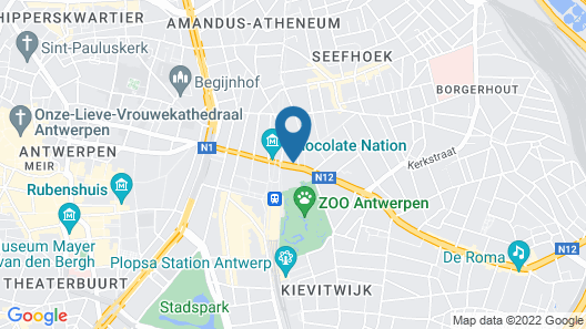 Renovated Apartment in Antwerp Map