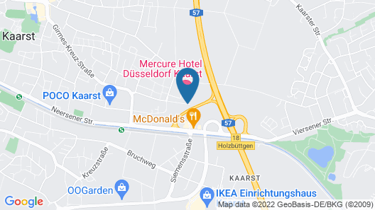 Mercure Hotel Düsseldorf Kaarst Map