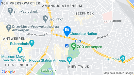 Radisson Blu Astrid Hotel, Antwerp Map