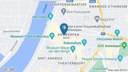 Hilton Antwerp Old Town Map