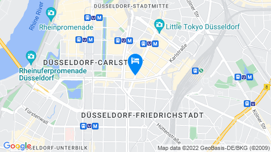 Rheingoldhotel Düsseldorf Map