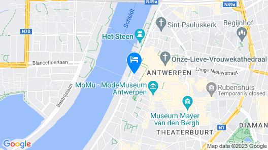 Hotel 't Sandt Antwerpen Map