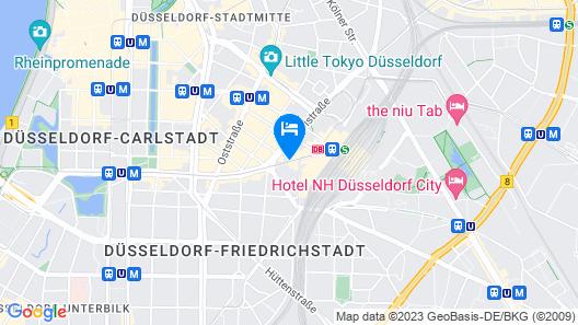 IntercityHotel Düsseldorf Map