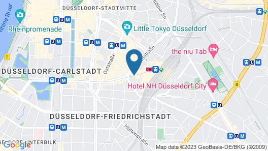 Novum Hotel Madison Düsseldorf Hauptbahnhof Map