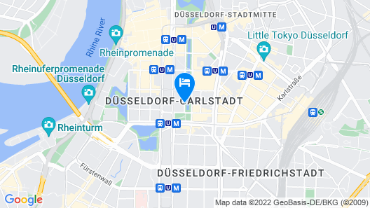 InterContinental Düsseldorf Map
