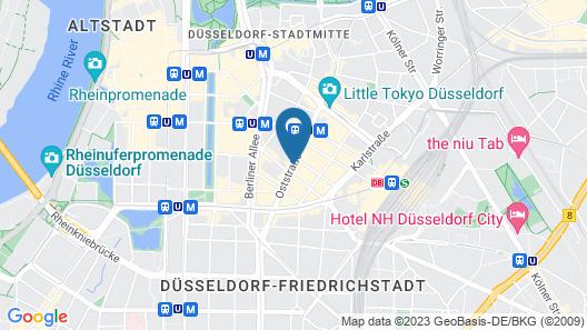 Leonardo Boutique Hotel Düsseldorf Map