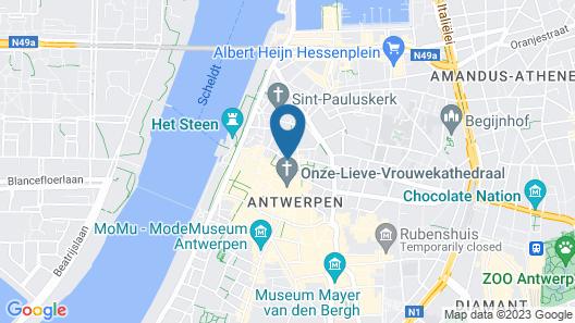 Hotel Rubens - Grote Markt Map