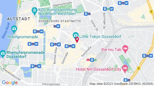 Hotel Nikko Düsseldorf Map
