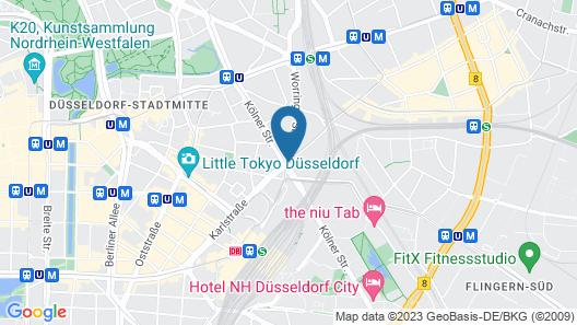 hotel friends Düsseldorf Downtown Map