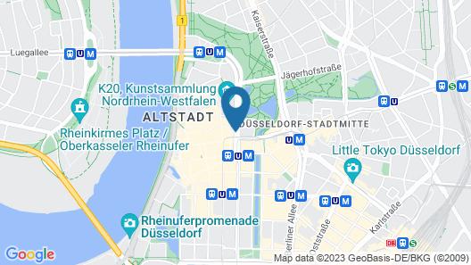 Hotel an der Oper Duesseldorf Map