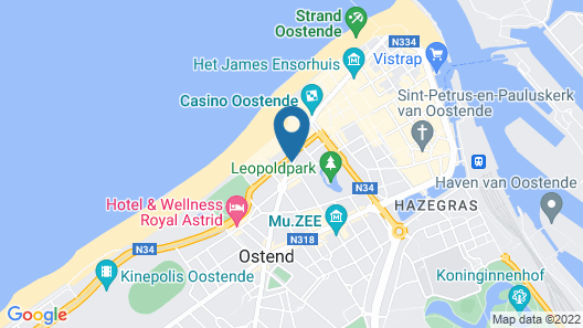 Leopold Hotel Ostend Map