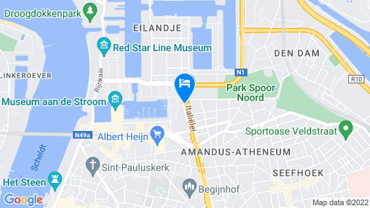Holiday Inn Express Antwerp City-North Map