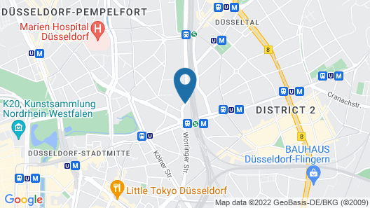 25hours Hotel Das Tour Map