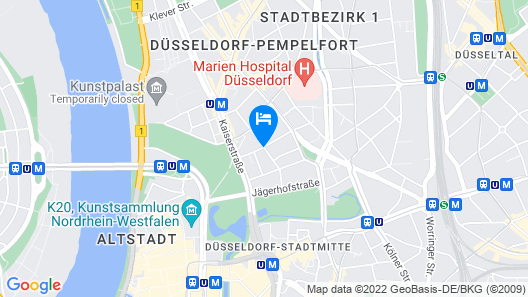 Modern apartment with flair in the heart of Düsseldorf with free WiFi Map