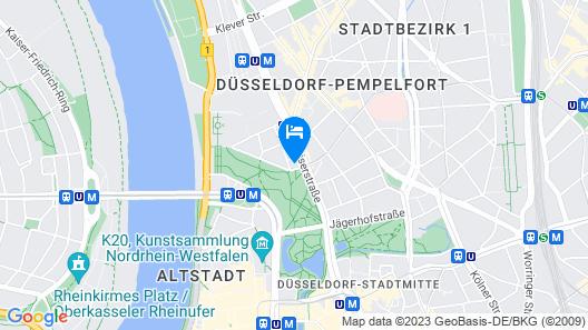Melia Düsseldorf Map