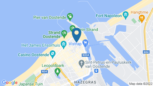 Ostend Hotel Map