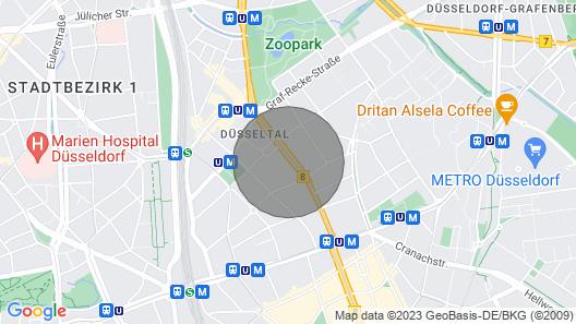 High Quality Apartment, big Rooms in Düsseldorf-zoo Map