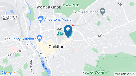 Guildford Harbour Hotel Map