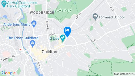 Mandolay Hotel Guildford Map