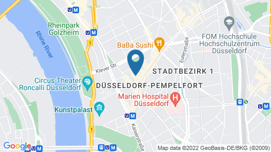 Hotel National Düsseldorf Map