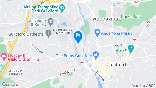 Guildford - Station View Map