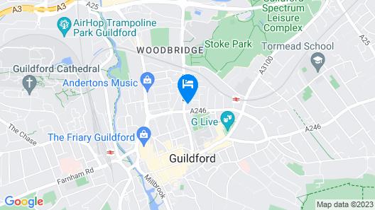 Next Level Apartments ScandiStyle @ Guildown Court Map