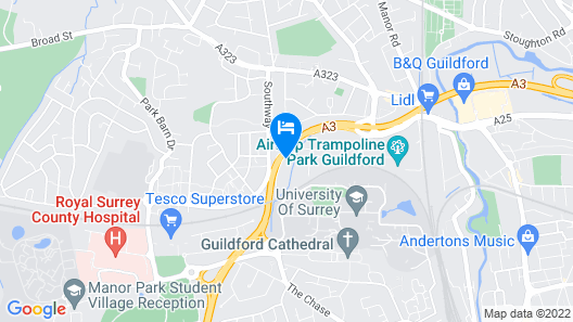Comfortable ROOMS in Guildford Surrey Map