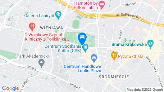 Hotel Mercure Lublin Centrum Map