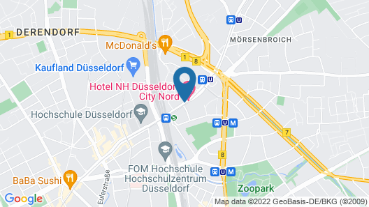 NH Düsseldorf City-Nord Map
