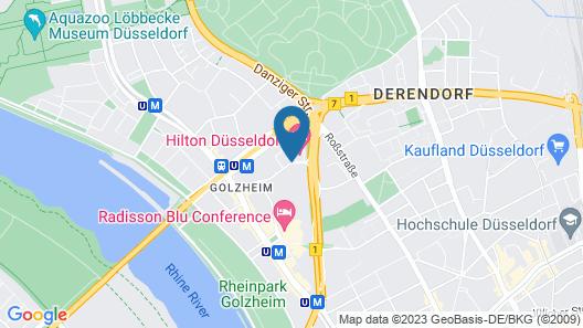 Hilton Düsseldorf Map