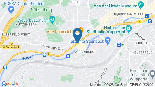 McDreams Hotel Wuppertal City Map