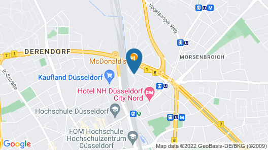 Holiday Inn Express Düsseldorf City North Map