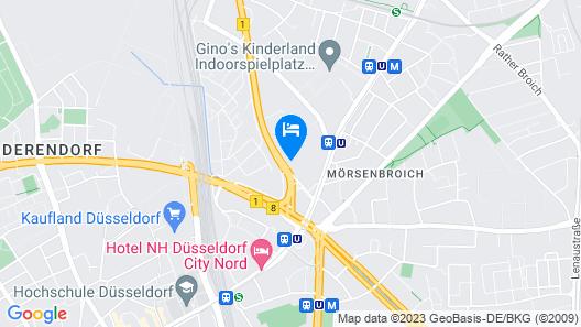 Mercure Hotel Düsseldorf City Nord Map