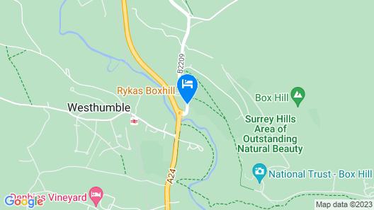Mercure Box Hill Burford Bridge Hotel Map
