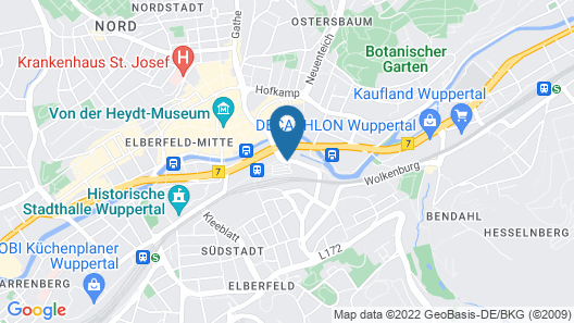 Flemings Express Hotel Wuppertal Map