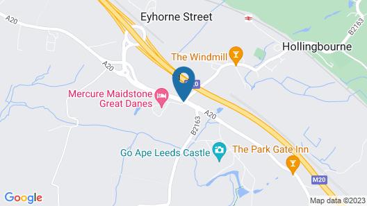Mercure Maidstone Great Danes Hotel Map