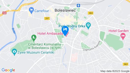 Hotel Ambasada Bolesławiec Map