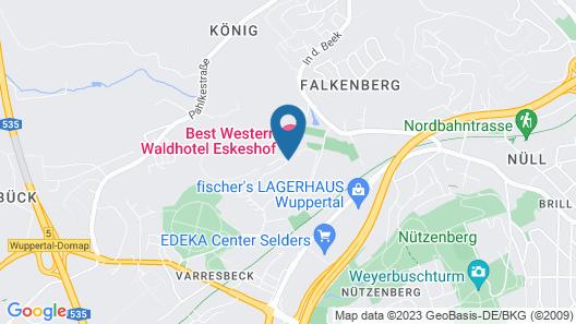 Best Western Waldhotel Eskeshof Map