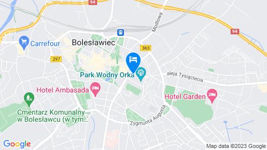 ibis Styles Boleslawiec Map