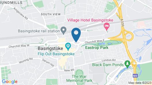 Churchill Place Basingstoke Map