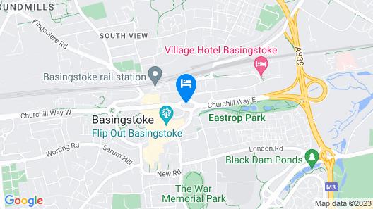 Beautiful Modern Flat At Basingstoke City Centre Map