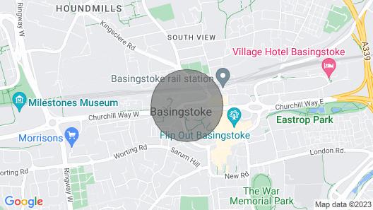 Central Basingstoke - Luxury 2 Bedroom 2 Bathroom Apartment Map