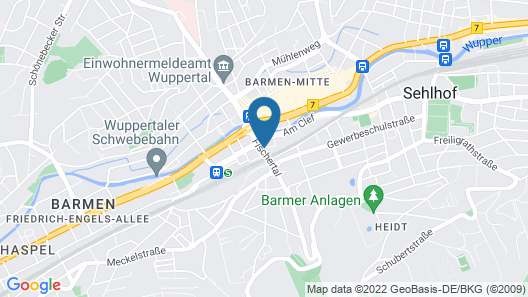 City Hotel Wuppertal Map